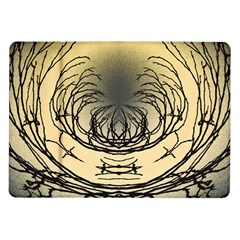 Atmospheric Black Branches Abstract Samsung Galaxy Tab 10 1  P7500 Flip Case