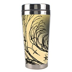 Atmospheric Black Branches Abstract Stainless Steel Travel Tumblers