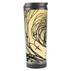 Atmospheric Black Branches Abstract Travel Tumbler