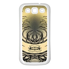 Atmospheric Black Branches Abstract Samsung Galaxy S3 Back Case (White)