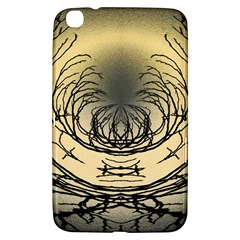 Atmospheric Black Branches Abstract Samsung Galaxy Tab 3 (8 ) T3100 Hardshell Case