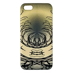 Atmospheric Black Branches Abstract iPhone 5S/ SE Premium Hardshell Case