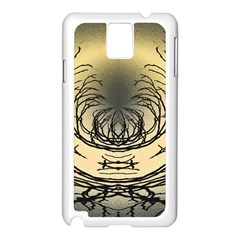 Atmospheric Black Branches Abstract Samsung Galaxy Note 3 N9005 Case (white)