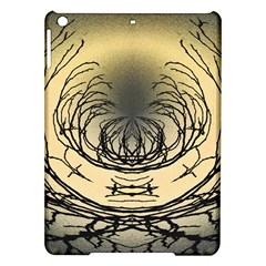 Atmospheric Black Branches Abstract iPad Air Hardshell Cases