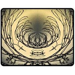 Atmospheric Black Branches Abstract Double Sided Fleece Blanket (medium)