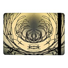 Atmospheric Black Branches Abstract Samsung Galaxy Tab Pro 10 1  Flip Case