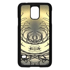 Atmospheric Black Branches Abstract Samsung Galaxy S5 Case (black)