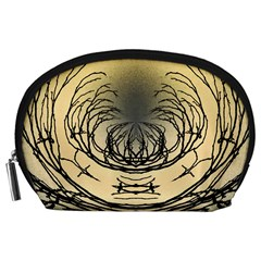 Atmospheric Black Branches Abstract Accessory Pouches (large)