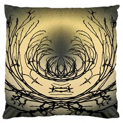 Atmospheric Black Branches Abstract Standard Flano Cushion Case (two Sides)
