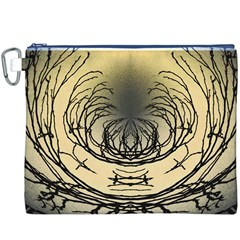 Atmospheric Black Branches Abstract Canvas Cosmetic Bag (XXXL)
