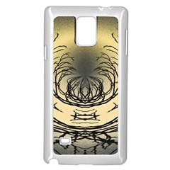 Atmospheric Black Branches Abstract Samsung Galaxy Note 4 Case (White)