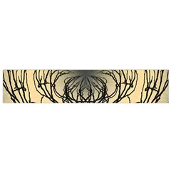 Atmospheric Black Branches Abstract Flano Scarf (small)