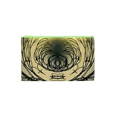Atmospheric Black Branches Abstract Cosmetic Bag (XS)