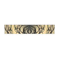 Atmospheric Black Branches Abstract Flano Scarf (mini)