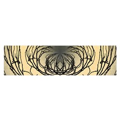 Atmospheric Black Branches Abstract Satin Scarf (Oblong)