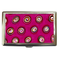 Digitally Painted Abstract Polka Dot Swirls On A Pink Background Cigarette Money Cases