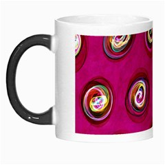 Digitally Painted Abstract Polka Dot Swirls On A Pink Background Morph Mugs