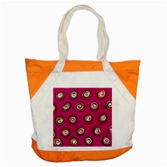 Digitally Painted Abstract Polka Dot Swirls On A Pink Background Accent Tote Bag
