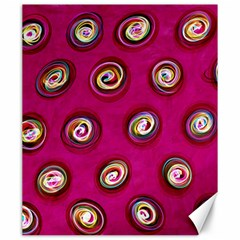 Digitally Painted Abstract Polka Dot Swirls On A Pink Background Canvas 20  x 24