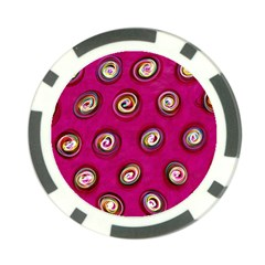 Digitally Painted Abstract Polka Dot Swirls On A Pink Background Poker Chip Card Guard (10 pack)