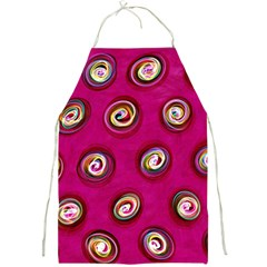 Digitally Painted Abstract Polka Dot Swirls On A Pink Background Full Print Aprons