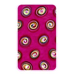 Digitally Painted Abstract Polka Dot Swirls On A Pink Background Memory Card Reader