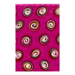 Digitally Painted Abstract Polka Dot Swirls On A Pink Background Shower Curtain 48  x 72  (Small)