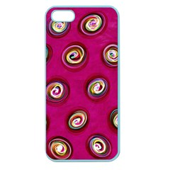 Digitally Painted Abstract Polka Dot Swirls On A Pink Background Apple Seamless Iphone 5 Case (color)