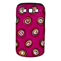 Digitally Painted Abstract Polka Dot Swirls On A Pink Background Samsung Galaxy S Iii Classic Hardshell Case (pc+silicone)