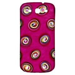 Digitally Painted Abstract Polka Dot Swirls On A Pink Background Samsung Galaxy S3 S Iii Classic Hardshell Back Case