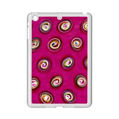 Digitally Painted Abstract Polka Dot Swirls On A Pink Background iPad Mini 2 Enamel Coated Cases