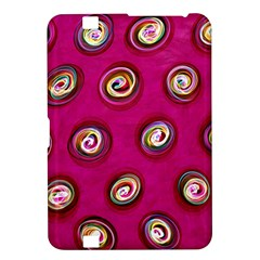 Digitally Painted Abstract Polka Dot Swirls On A Pink Background Kindle Fire HD 8.9