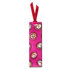 Digitally Painted Abstract Polka Dot Swirls On A Pink Background Small Book Marks