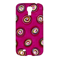 Digitally Painted Abstract Polka Dot Swirls On A Pink Background Samsung Galaxy S4 I9500/i9505 Hardshell Case
