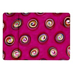 Digitally Painted Abstract Polka Dot Swirls On A Pink Background Samsung Galaxy Tab 10.1  P7500 Flip Case