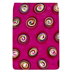 Digitally Painted Abstract Polka Dot Swirls On A Pink Background Flap Covers (s)