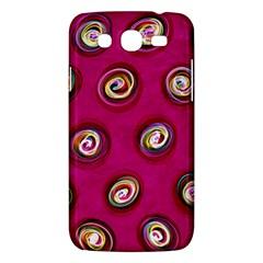 Digitally Painted Abstract Polka Dot Swirls On A Pink Background Samsung Galaxy Mega 5 8 I9152 Hardshell Case