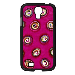 Digitally Painted Abstract Polka Dot Swirls On A Pink Background Samsung Galaxy S4 I9500/ I9505 Case (black)