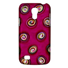 Digitally Painted Abstract Polka Dot Swirls On A Pink Background Galaxy S4 Mini