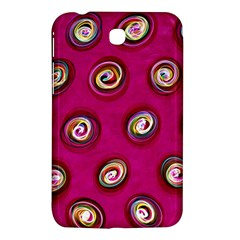 Digitally Painted Abstract Polka Dot Swirls On A Pink Background Samsung Galaxy Tab 3 (7 ) P3200 Hardshell Case