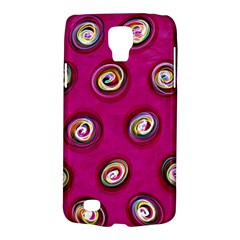 Digitally Painted Abstract Polka Dot Swirls On A Pink Background Galaxy S4 Active
