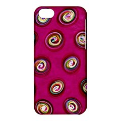 Digitally Painted Abstract Polka Dot Swirls On A Pink Background Apple iPhone 5C Hardshell Case