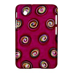 Digitally Painted Abstract Polka Dot Swirls On A Pink Background Samsung Galaxy Tab 2 (7 ) P3100 Hardshell Case