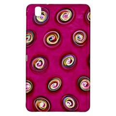 Digitally Painted Abstract Polka Dot Swirls On A Pink Background Samsung Galaxy Tab Pro 8 4 Hardshell Case