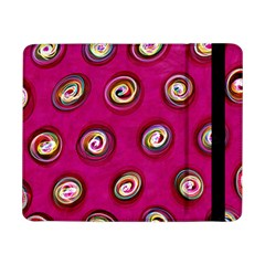 Digitally Painted Abstract Polka Dot Swirls On A Pink Background Samsung Galaxy Tab Pro 8 4  Flip Case