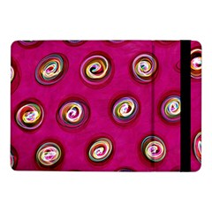 Digitally Painted Abstract Polka Dot Swirls On A Pink Background Samsung Galaxy Tab Pro 10.1  Flip Case