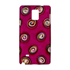 Digitally Painted Abstract Polka Dot Swirls On A Pink Background Samsung Galaxy Note 4 Hardshell Case