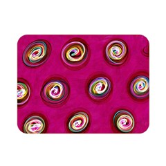 Digitally Painted Abstract Polka Dot Swirls On A Pink Background Double Sided Flano Blanket (mini)