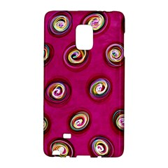 Digitally Painted Abstract Polka Dot Swirls On A Pink Background Galaxy Note Edge