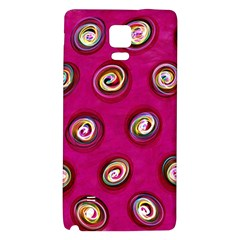 Digitally Painted Abstract Polka Dot Swirls On A Pink Background Galaxy Note 4 Back Case